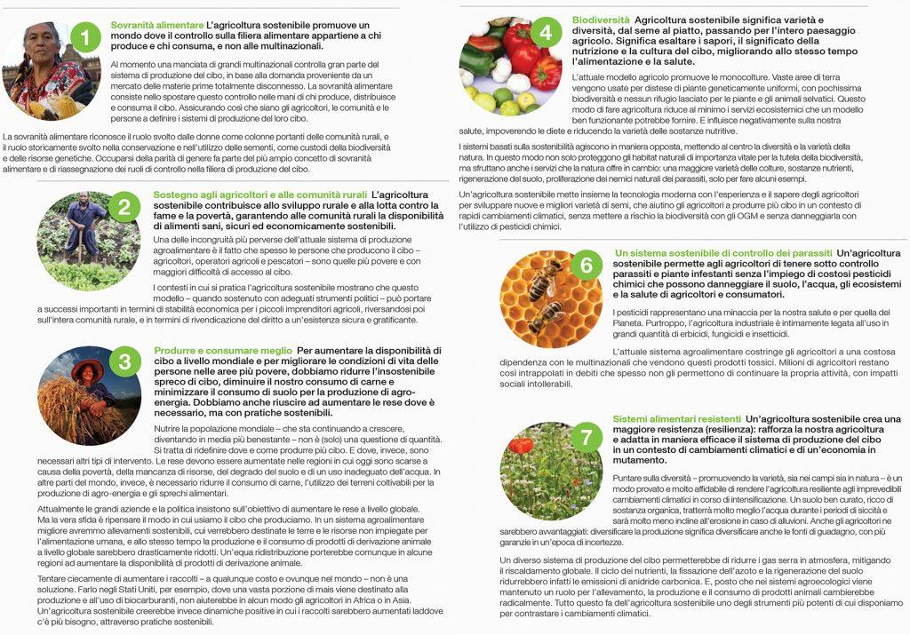 Greenpeace 7 principi agricoltura