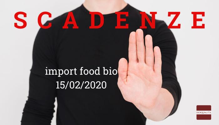 SCADENZE import food bio 15_02_2020
